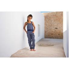 Lofff jumpsuit dark blue/white