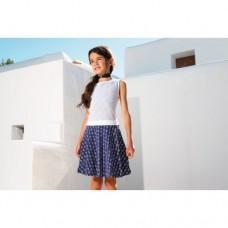 Lofff jurk sweet dress dark blue/white