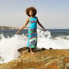 LavaLava jurk Lava blue wave