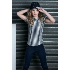 Lola Meis shirt navy/off white stripe