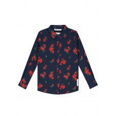 Nik&Nik blouse Odet flower dark blue