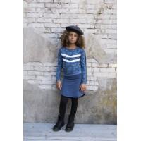 Soft & Jolly jurk AOP 2 dark blue